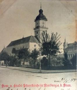 Pogled na Stolnico leta 1899
