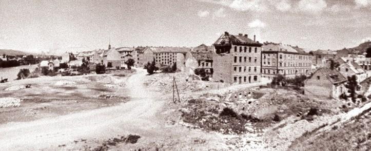 Ulica_Kneza_Koclja_in_Mlinska_ulica_1946