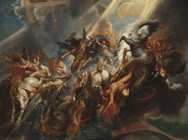 Petr Paul Rubens: The Fall of Phaeton, olje na platnu, 98,4 x 131,2, 1604-1605, National Gallery Art Washington, ZDA