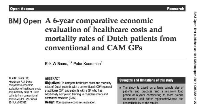 holland studie homöopathie