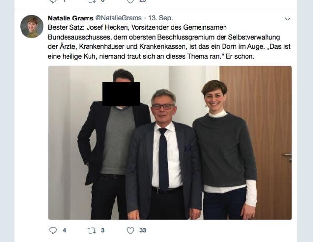 Foto enthüllt: G-BA Vorsitzender Hecken traf sich mit Anti-Homöopathie-Lobbyistin Natalie Grams