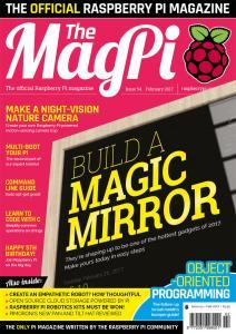 Εξώφυλλο MagPi, τεύχος 54 (Φεβρουάριος 2017)