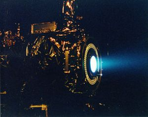 Xenon Ion Engine. NASA's Jet Propulsion Laboratory tests 1990s. PD.