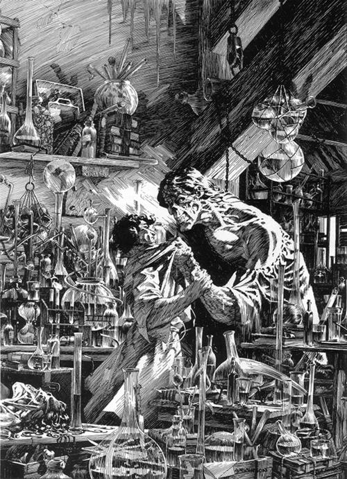Resultado de imagem para frankenstein ilustração