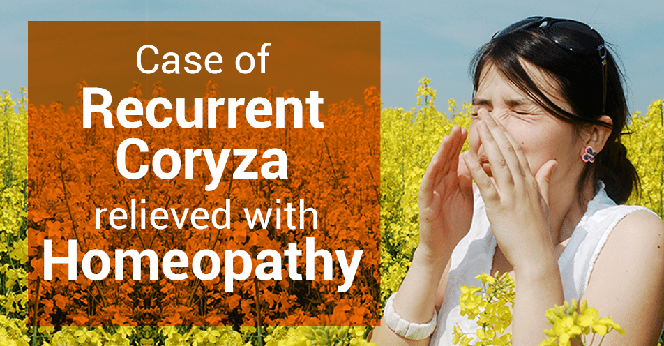 Case of Recurrent Coryza was relieved with Homeopathy - Hompath