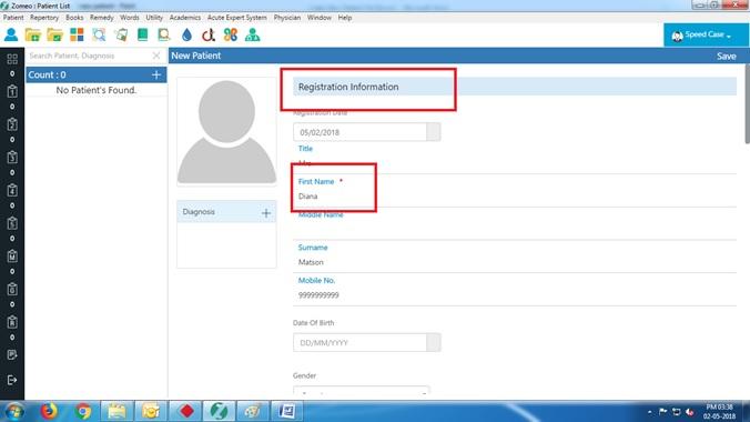 Zomeo Registration