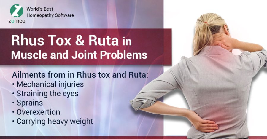 Rhus tox and Ruta
