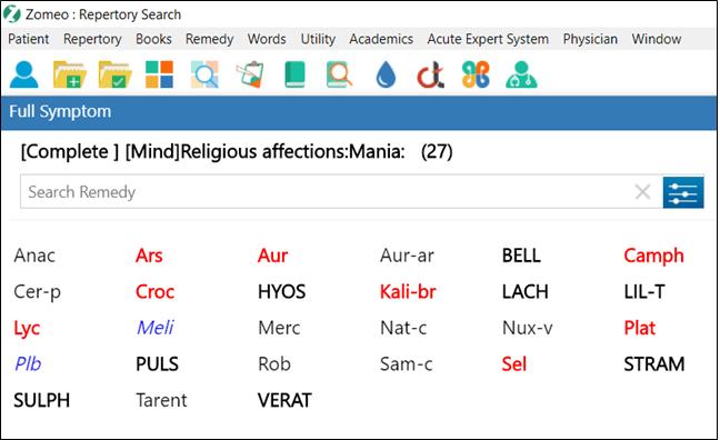 Mania Religious Affection