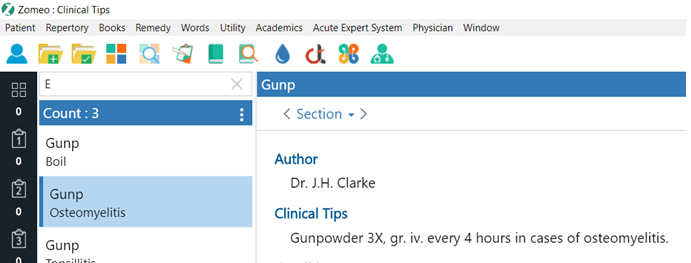 Clinical Tips D to G