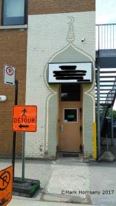 Montreal mosque entrance