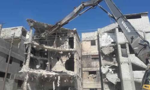آخر أعمال مديرية الاشغال في أحياء حمص