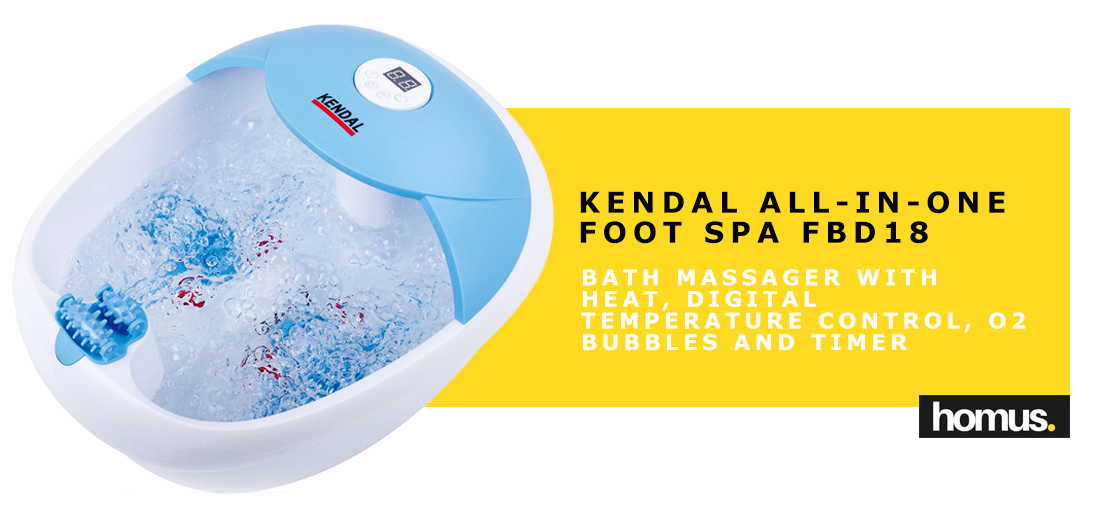 Kendall all in one Bath Massager with Heat, Digital Temperature Control, O2 Bubbles And Timer FBD18