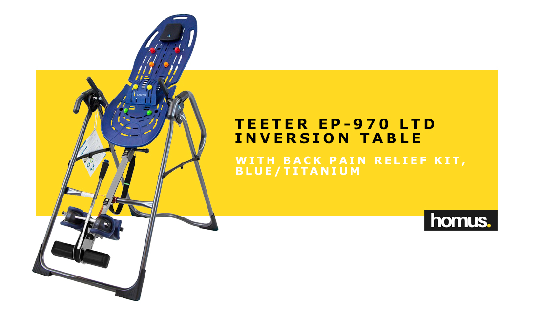 Teeter EP-970 Ltd Inversion Table with Back Pain Relief Kit copy