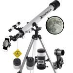 Landove Telescope, 60mm AZ Refractor Telescope with 10mm Smartphone Digiscoping Adapter - Observer 60mm AZ Refractor & Travel Scope Starter Kit