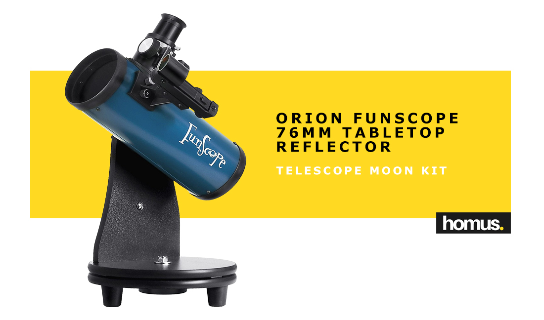 Orion FunScope 76mm TableTop Reflector Telescope Moon Kit
