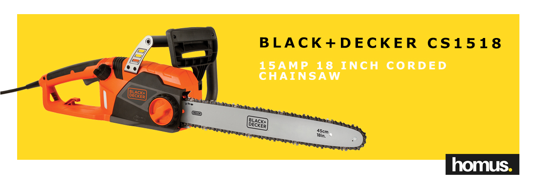 BLACK+DECKER CS1518 15amp 18 Inch Corded Chainsaw