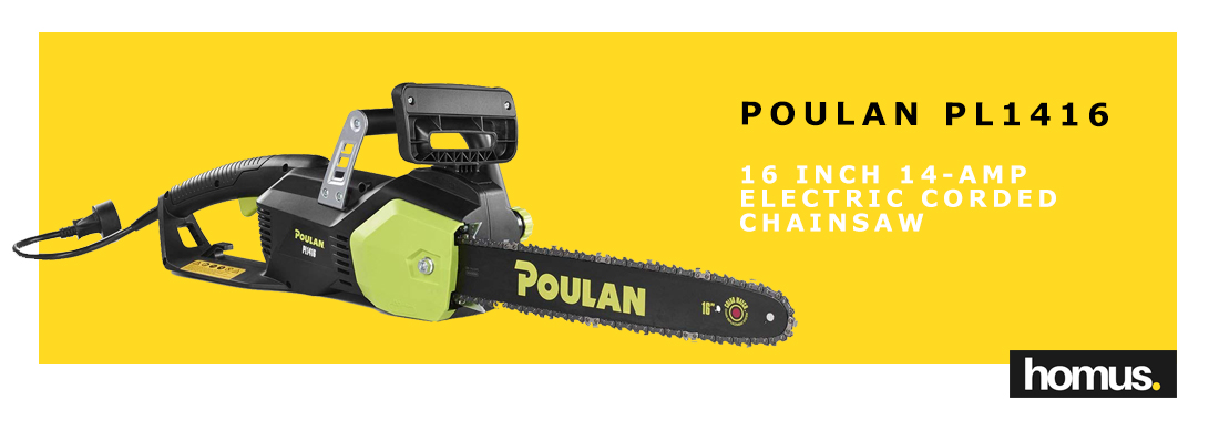 Poulan 16 in. 14-Amp Electric Corded Chainsaw, PL1416