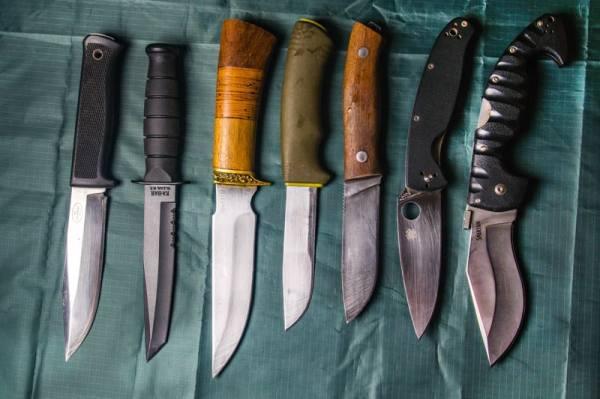 Что вам будет за ношение ножа в городе и на природе