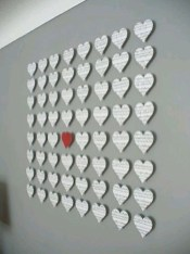 Beautiful Valentine Wall Decor And Color Ideas 43