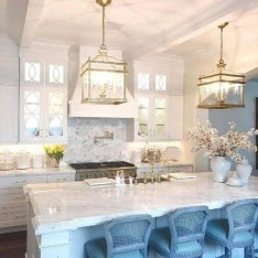 Inspiring Blue And White Kitchen Color Ideas 19