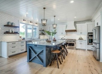 Inspiring Blue And White Kitchen Color Ideas 28
