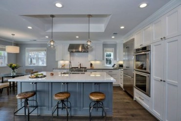 Inspiring Blue And White Kitchen Color Ideas 37
