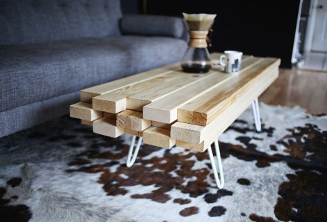 Awesome Wooden Coffee Table Design Ideas 27