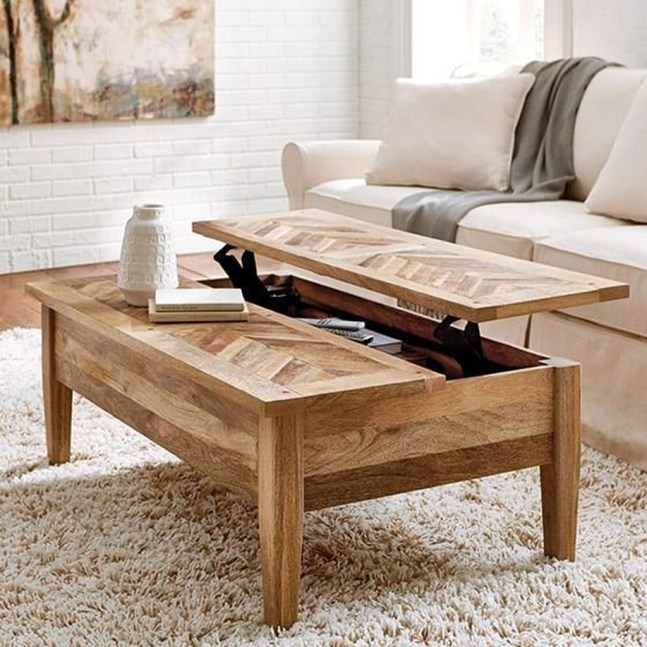 Awesome Wooden Coffee Table Design Ideas 37