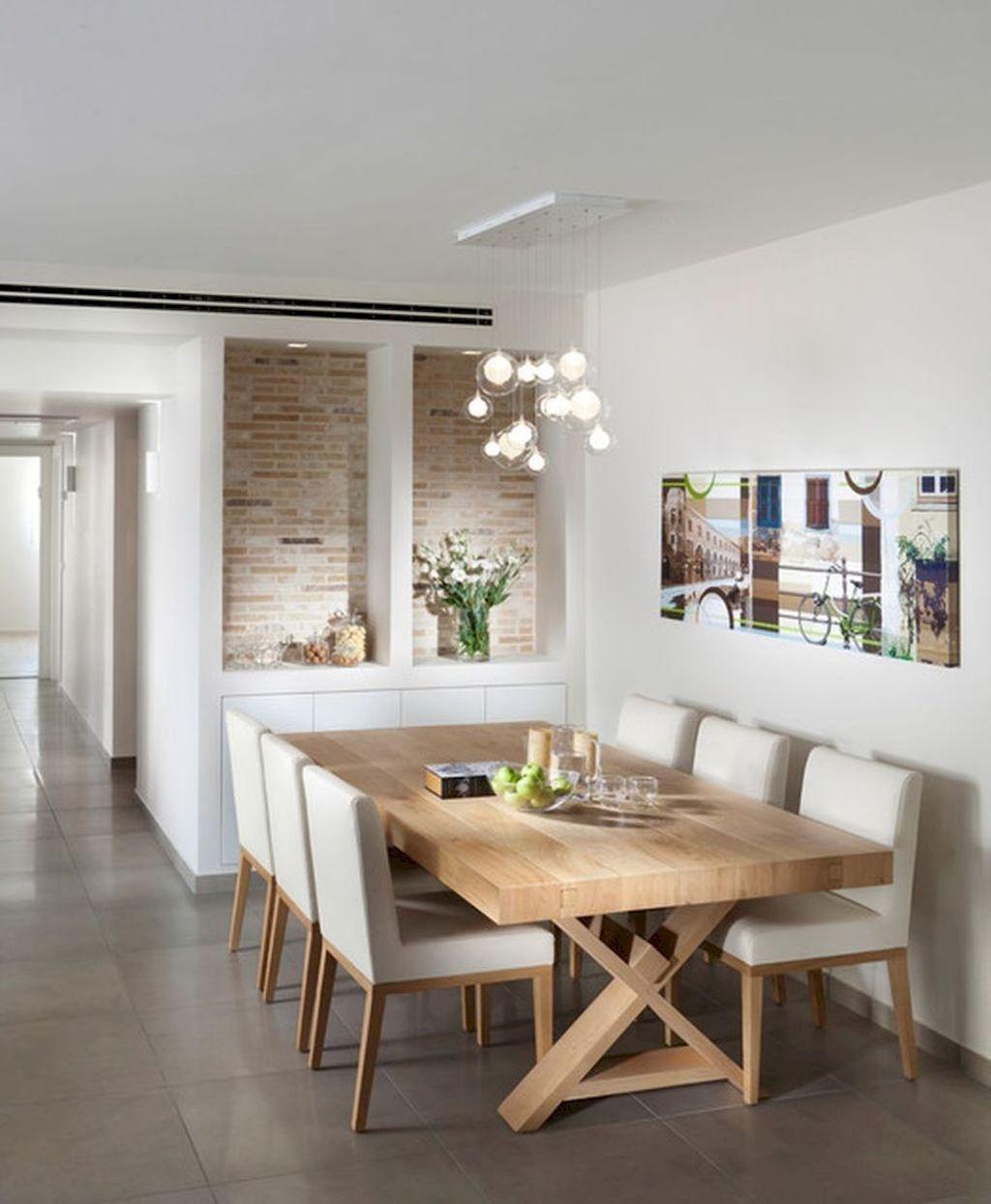 Get tips from hgtv remodels. Elegant Modern Dining Room Design Ideas 01 - HOMYHOMEE