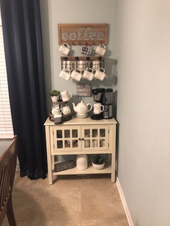 Great Coffee Cabinet Organization Ideas 36