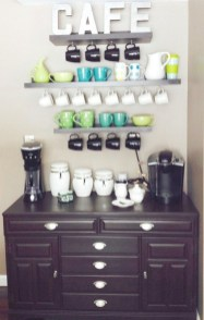 Great Coffee Cabinet Organization Ideas 37
