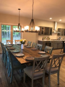 Perfect Farmhouse Dining Table Design Ideas 15