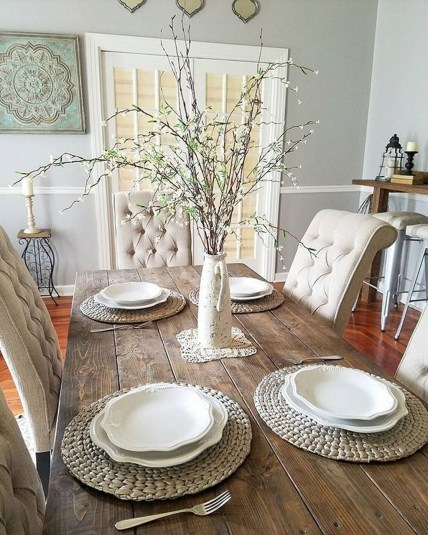 Perfect Farmhouse Dining Table Design Ideas 38