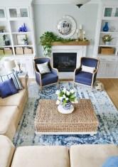 Stunning Coastal Living Room Decoration Ideas 42