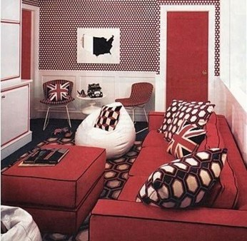 Sweet Living Room Decor Ideas With Red Color For Valentines Day 08