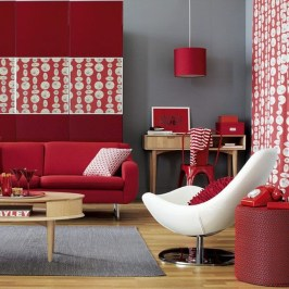 Sweet Living Room Decor Ideas With Red Color For Valentines Day 09