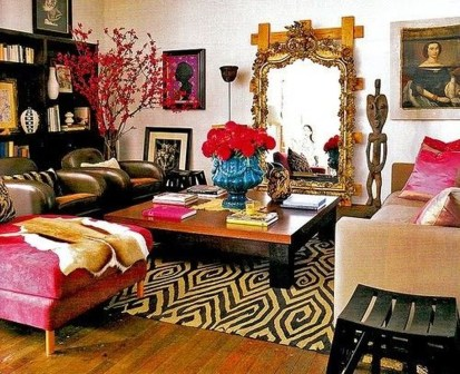 Sweet Living Room Decor Ideas With Red Color For Valentines Day 23