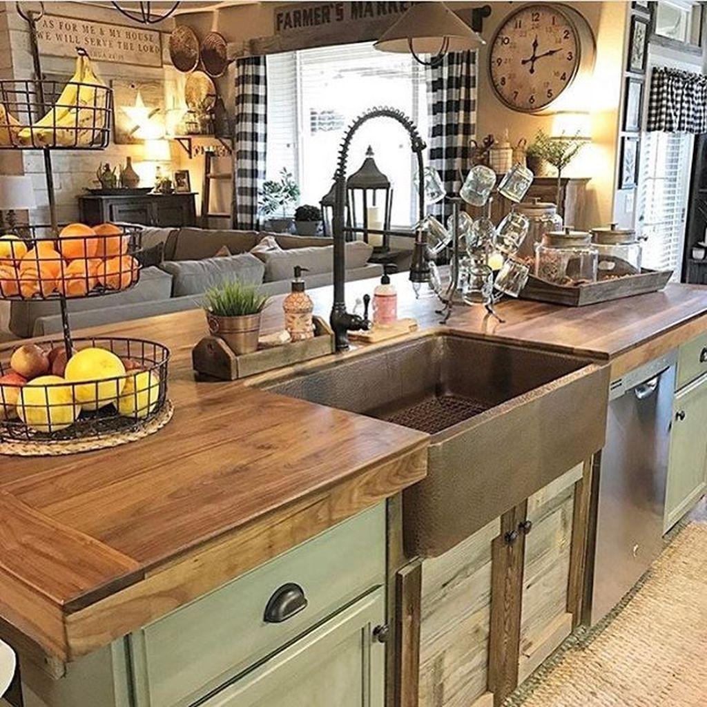 Totally Inspiring Farmhouse Kitchen Design Ideas 28