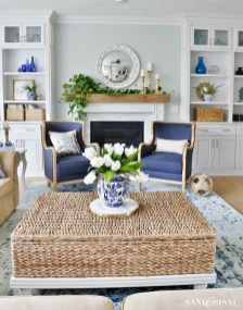 Affordable Blue And White Home Decor Ideas Best For Spring Time 05