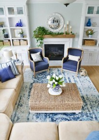Affordable Blue And White Home Decor Ideas Best For Spring Time 27