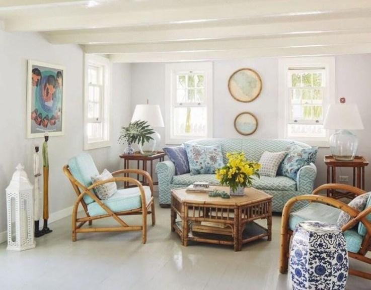 The Best Coastal Theme Living Room Decor Ideas 45