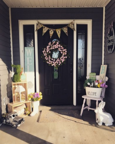 Best Easter Front Porch Decor Ideas 13
