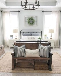 Elegant Farmhouse Bedroom Decor Ideas 41