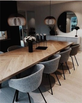 Elegant Modern Dining Table Design Ideas 23