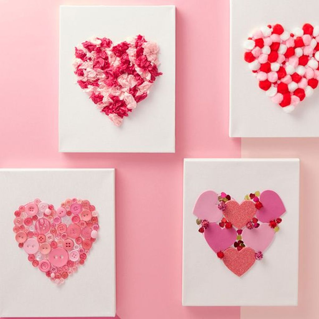 Inspiring Valentine Crafts Ideas For Your Home Decor 36