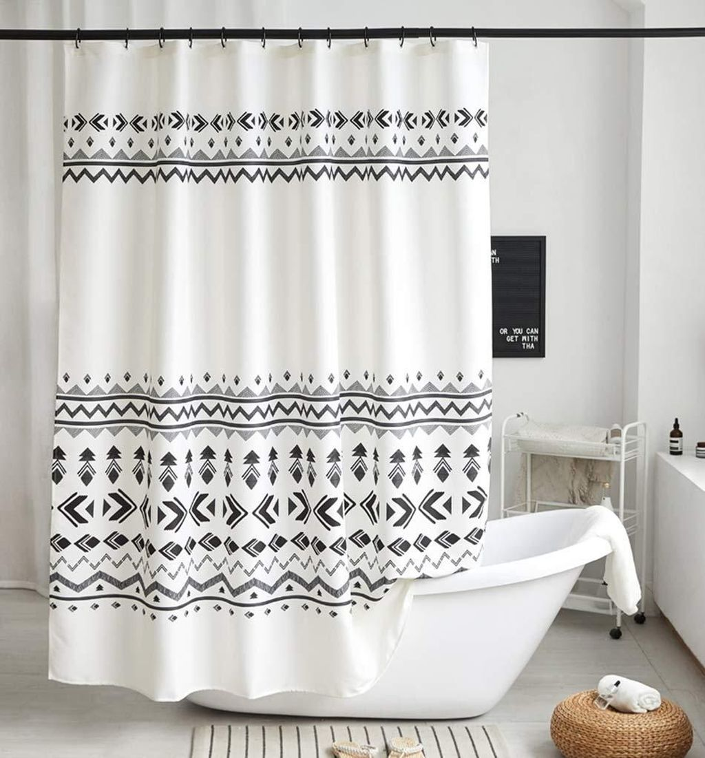 Amazing Black And White Shower Curtain For Your Bathroom Decor 10