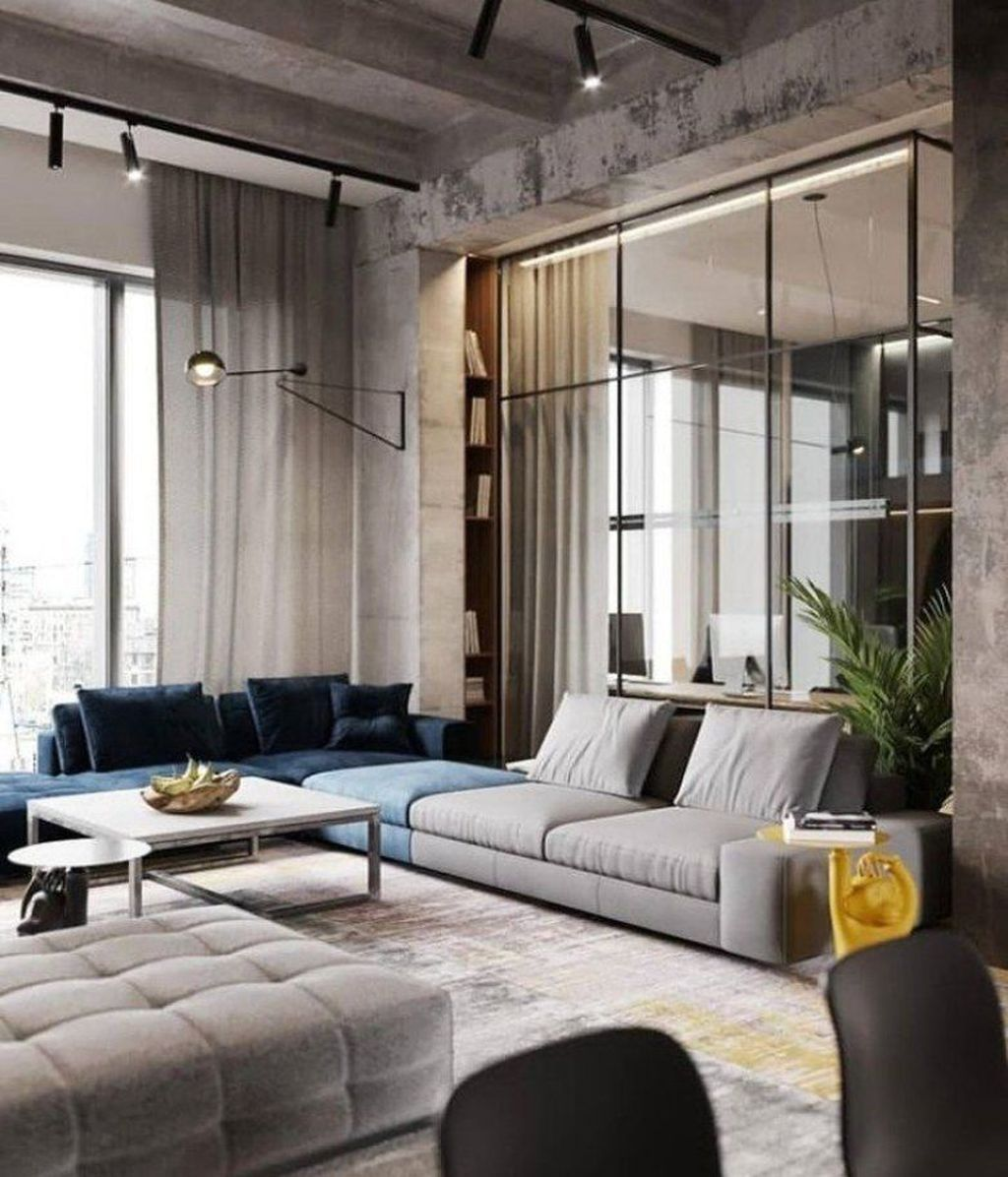 Awesome Minimalist Contemporary Living Room Decor Ideas 19