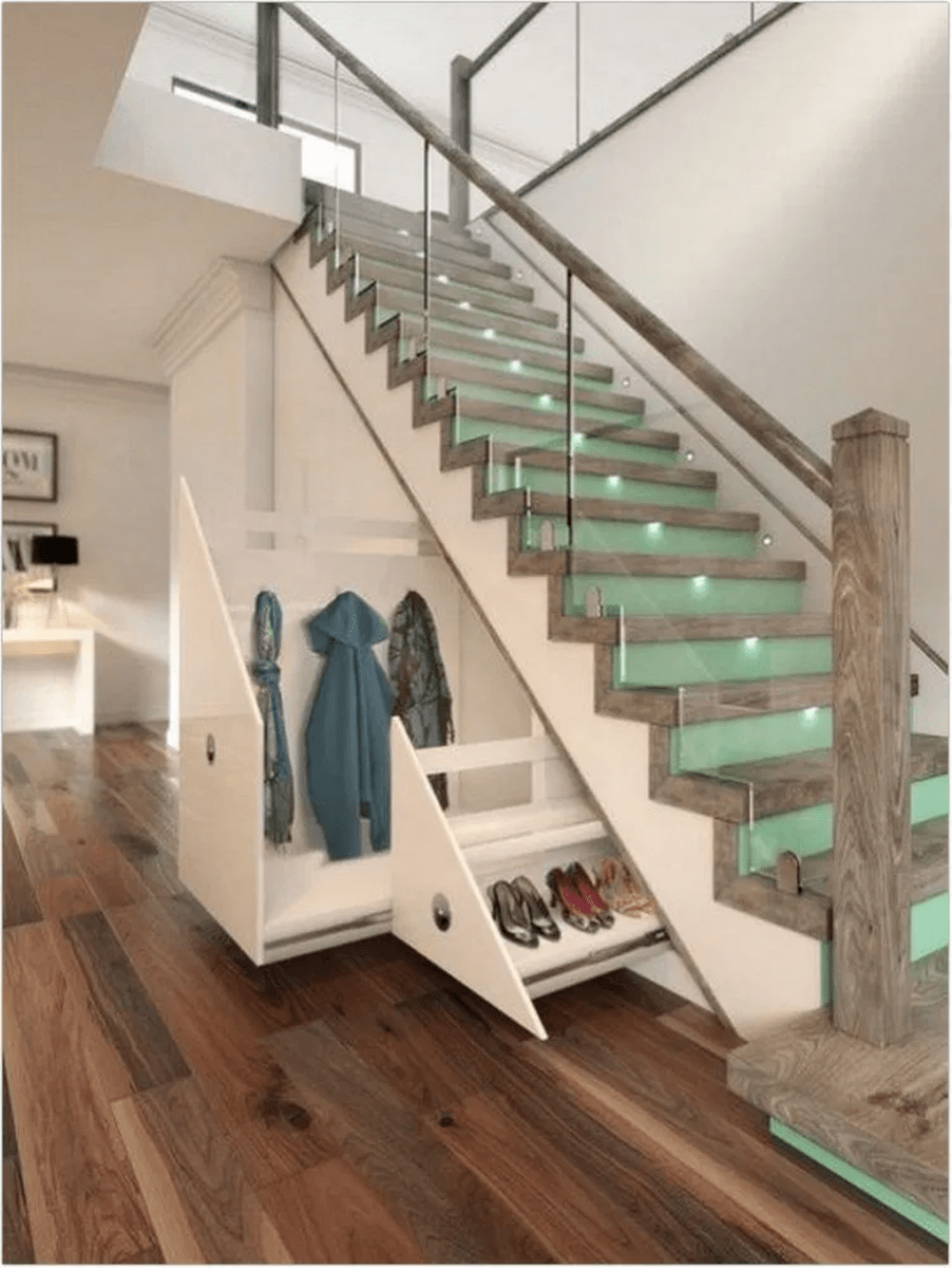 Brilliant Staircase Design Ideas To Beautify Your Interior 02