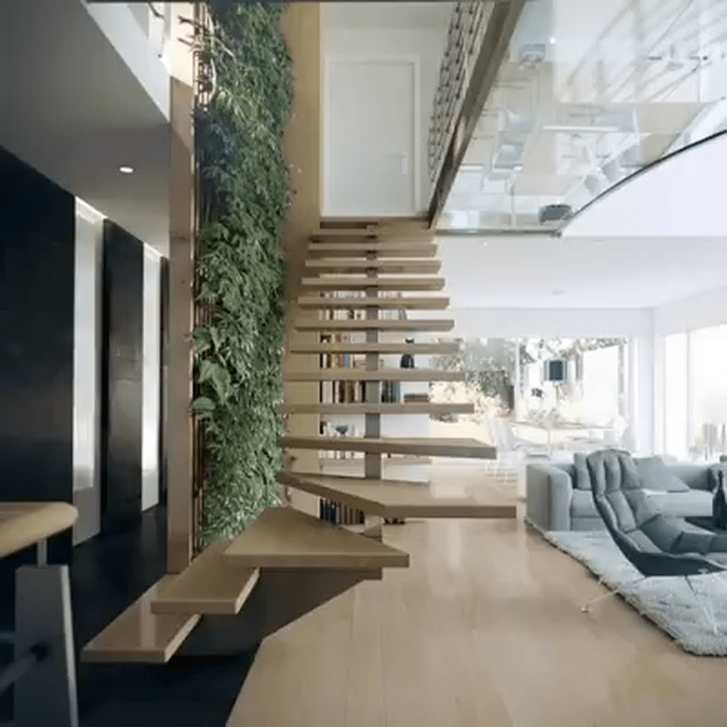 Brilliant Staircase Design Ideas To Beautify Your Interior 04