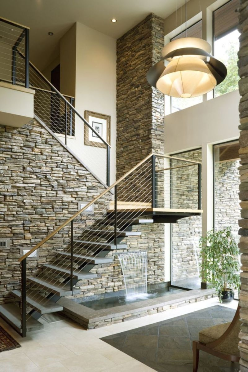 Brilliant Staircase Design Ideas To Beautify Your Interior 08